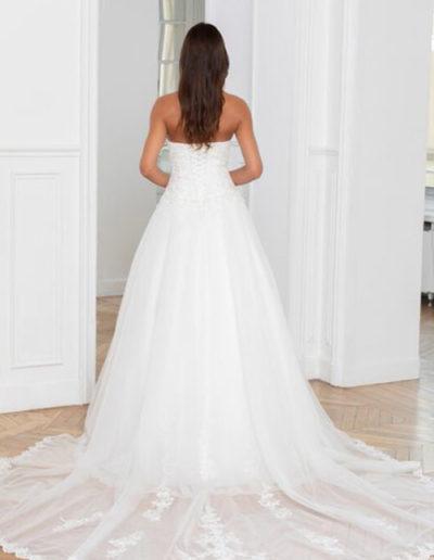 Robe de mariée-224-13 DOS TRAINE